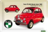 """Blechschild """"Puch 650 TR Monte Carlo"""""""