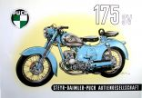 Poster Puch SV 175 blau