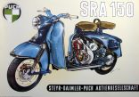 Poster Puch Roller SRA 150 Schnittbild