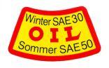 Aufkleber OIL (gelb/rot) TF, SG/S