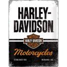 "Blechschild "" Harley-Davidson Motorcycles"""