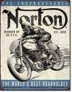 """Blechschild """" Norton - the unaprochable"""""""